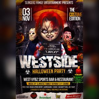 BOBBY KUSH X SLINGERZ FAMILY - WEST VYBZ HALLOWEEN PARTY - GUYANA 2018 TOUR