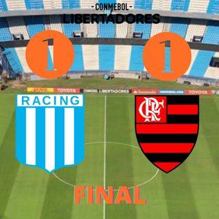 Racing empató con Flamengo y está obligado a marcar en Río para llegar a cuartos