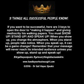 3 Power Keys to Success!