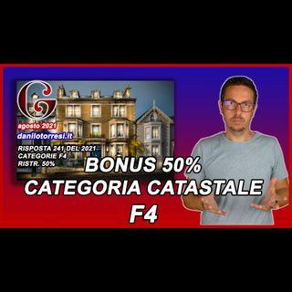 BONUS RISTRUTTURAZIONE 50 immobile categoria F4