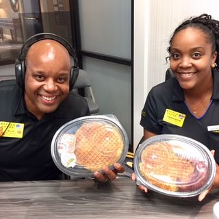 Vecus Miller & Theresa Hayes with Waffle House and Lowell Smoker with Dynamic Media Consultants