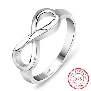 Mother's day sterling silver infinity ring