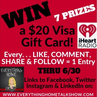 WIN A $20 Visa Gift Card For Every LIKE, COMMENT, SHARE & FOLLOW Thru June 30