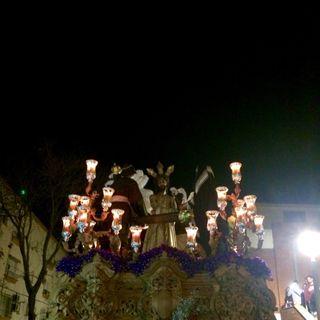 Lunes Santo 2016. Recogida del paso de misterio de Ntro. Señor Jesús de la Paz (Hermandad de la Paz).