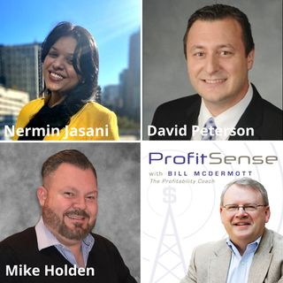 Nermin Jasani, We Are Wildly Successful, LLC, David Peterson, PNC Bank, and Mike Holden, Nextgen Pest Solutions (ProfitSense with Bill McDer