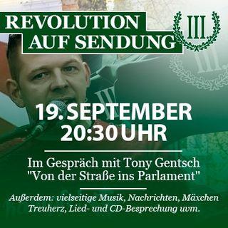 Revolution auf Sendung #023 - 19. September 2019 - Im Gespräch mit Tony Gentsch