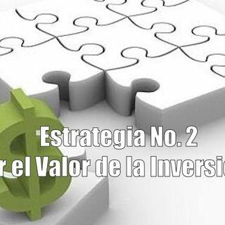Estrategia No. 2 Calcular el Valor de la Inversión Inicial