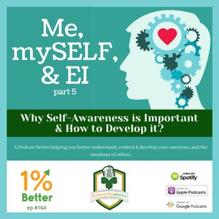 Me, mySELF, & EI Part 5 - Why Self-Awareness is Important & How to Develop it? - EP164