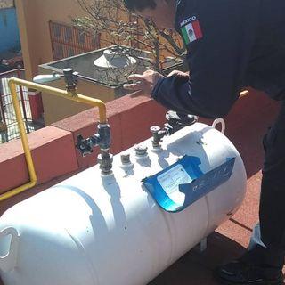 Controlan fuga de gas en inmueble de la alcaldía Tlapan