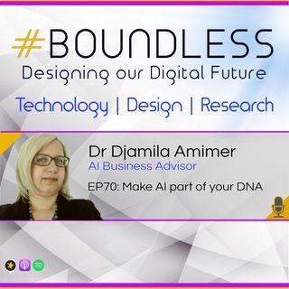 EP70: Dr Djamila Amimer, AI Business Advisor: Make AI part of your DNA