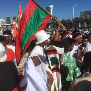 Protest at Irreechaa Festival in Meskel Square