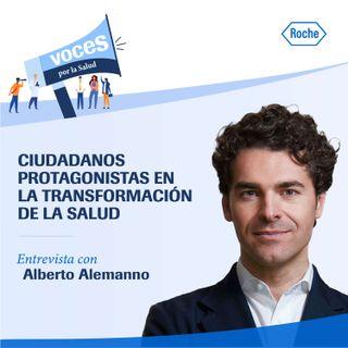 """Entrevista con Alberto Alemanno: """"Ciudadanos protagonistas en la transformación de la salud"""" - Voces por la salud, un podcast de Roche"""