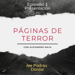 Presentación Páginas de Terror