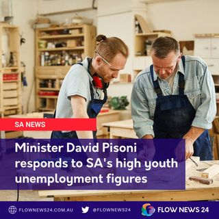 SA Jobs Minister responds to high ABS youth unemployment data for SA - with @DavidPisoniMP