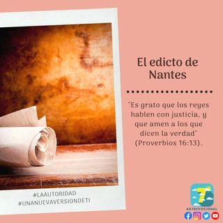 12 de noviembre - El edicto de Nantes - Una Nueva Versión de Ti 2.0 - Devocional de Jóvenes