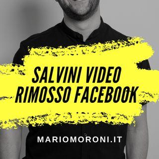 Facebook ha rimosso il video di Salvini al citofono