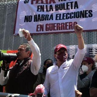 Raúl Morón, aspirante de Morena al Gobierno de Michoacán se integró al plantón frente al TEPJF