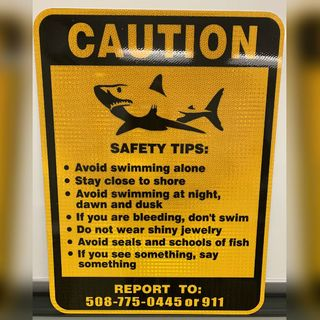 With Shark Sightings On Rise, Yarmouth Warns Swimmers With Signs