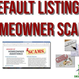 Common Homeowner Scams | Default Listings | Lee Honish