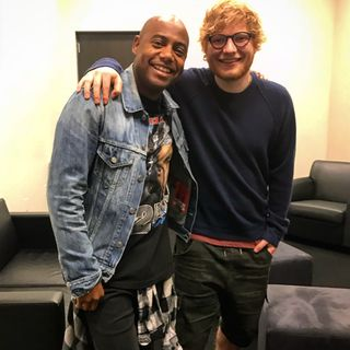 Catching up w/ Ed Sheeran Backstage at Barclay's Center