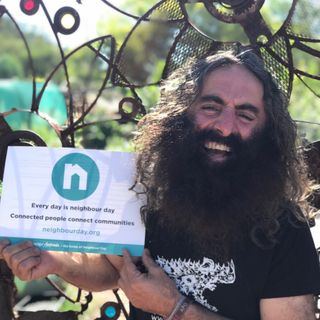 Promoting @NeighbourDay with Costa Georgiadis (@CostasGarden) www.neighbourday.org