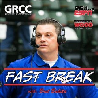 Fast Break with Bret Bakita Podcast - Episode 8 - Legendary Broadcaster of Detroit Pistons Basketball & MSU Football - George Blaha