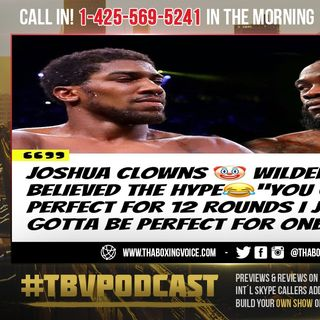 ☎️Joshua Clowns Wilder🤡Believes Fury Still Wins🇬🇧Sarcastically Gives Wilder Puncher Chance😳