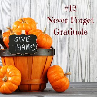 The 12 No-no's of Thanksgiving Part 12   Never Forget Gratitude