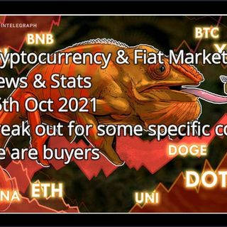 Cryptocurrency & Financial Market News & stats 18th Oct 2021 - Stagflation is here people