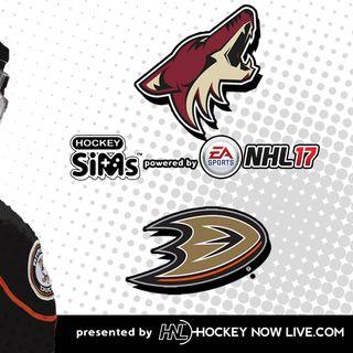 Coyotes vs Ducks (NHL 17 Hockey Sims)