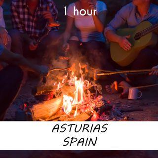 Asturias, Spain | 1 hour CAMPFIRE Sound Podcast | White Noise | ASMR sounds for deep Sleep | Relax | Meditation | Colicky