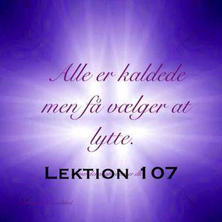Lektion 107 + tekst kap 13