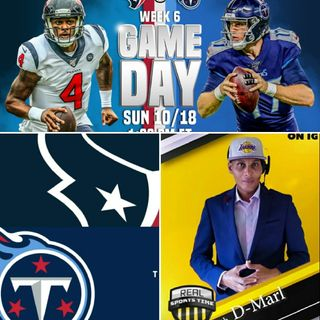 "Episode 3| #NFLSUNDAY #AFCSOUTH Division Game|Titans VS Texans |■Play by Play Coverage W/ ""Real Sports Time"" w/D-MARL"