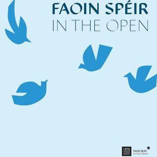 Geoff hears from organisers at the launch of Spraoi's Faoin Spéir