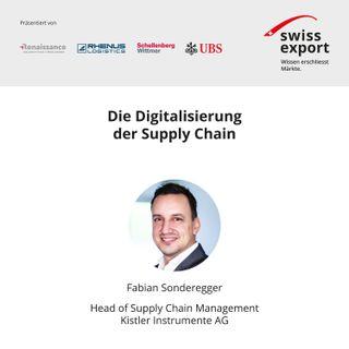 Die Digitalisierung der Supply Chain | Fabian Sonderegger | Kistler Group