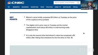 #Bitcoin $1 Trillion again - Bill Gates says Bitcoin uses too much energy - #TiB (Mar 9, 2021)