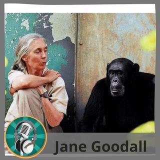 Tania Ocaña con Jane Goodall
