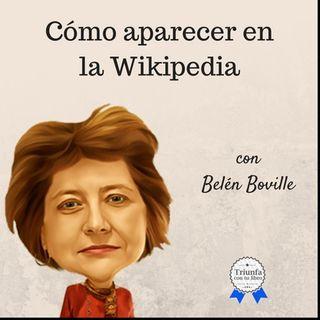 Cómo aparecer en Wikipedia con Belén Boville.