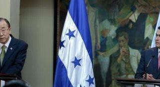 United Nations Secretary-General Ban Ki-moon visit Honduras
