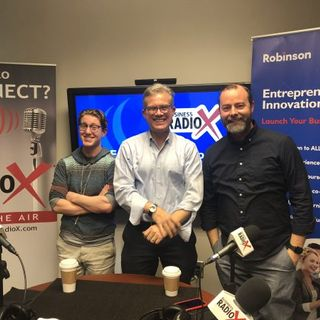 Brennen Dicker with Creative Media Industries Institute (CMII) at GSU and Dave Beck & Quinn Randel with Foundry 45
