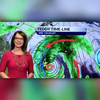 Our Atlantic Regional Afternoon Forecast and Hurricane Teddy update with Cindy Day for September 22, 2020