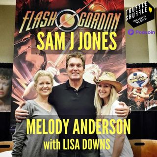 Sam J Jones, Melody Anderson and Lisa Downs