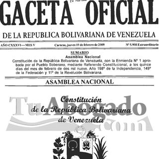 Constitución de Venezuela Arts. del 1 al 64 @AudioLey Productor @RaymondOrta