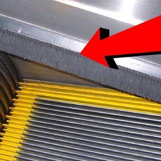 ¿Para qué valen los cepillos de las escaleras mecánicas?