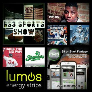 BS3 Sports Show 10.15.16 (Sponsors @SitOrStartApp @LumosCaffeine)
