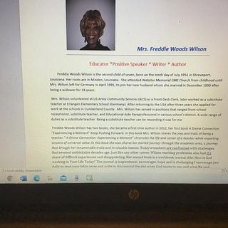 Mrs. Freddie Mae Wilson Educator and Author