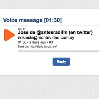 SpeakPipe desde #Uruguay: @AntesRadioFM