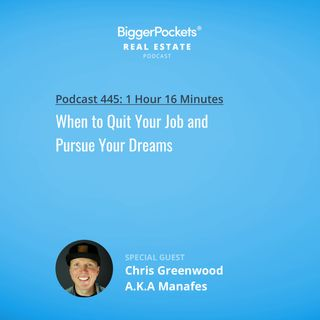 445: When to Quit Your Job and Pursue Your Dreams with Rapper Manafest