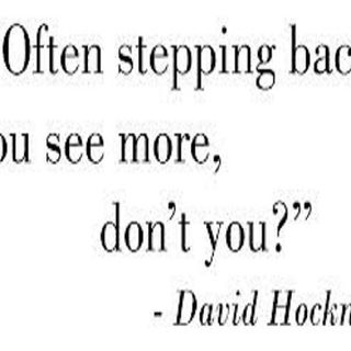 Stepping Back...