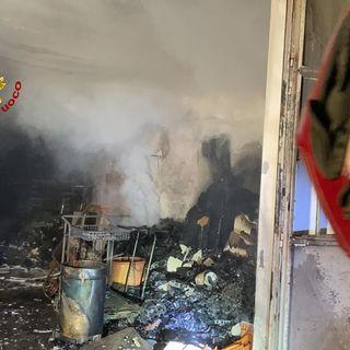 A fuoco un laboratorio: danni ingenti